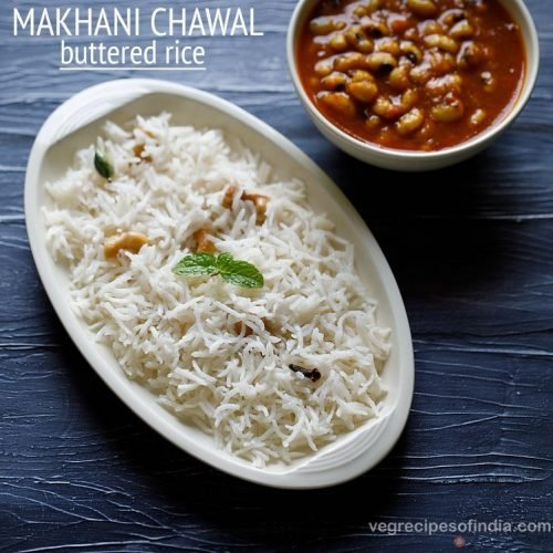 butter rice recipe, makhani chawal recipe, buttered rice recipe
