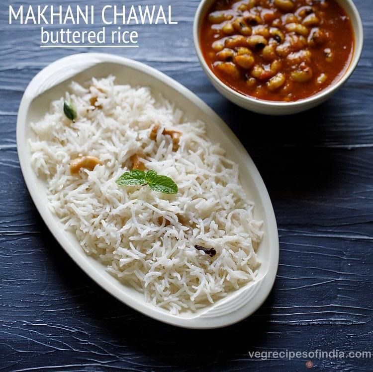 butter rice recipe, makhani chawal recipe, buttered rice recipe