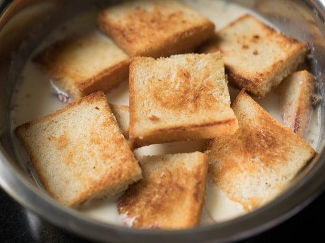 making double ka meetha recipe