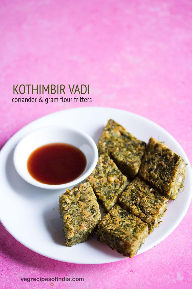 kothimbir vadi recipe, how to make maharashtrian kothimbir vadi recipe
