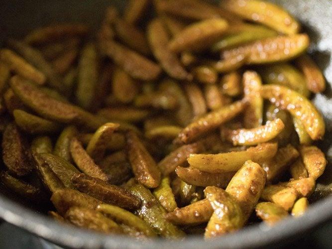 making tendli fry recipe