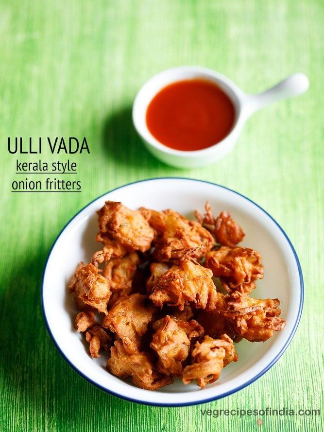ulli vada recipe, kerala style onion pakoda recipe | onion vada recipe