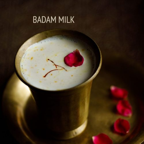 badam milk recipe, badam doodh recipe, almond milk recipe