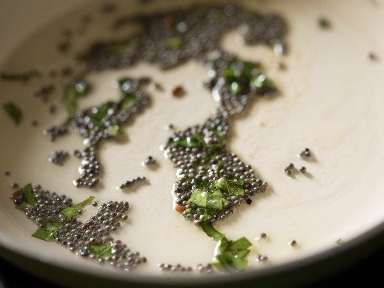 making gujarati handvo recipe in pan