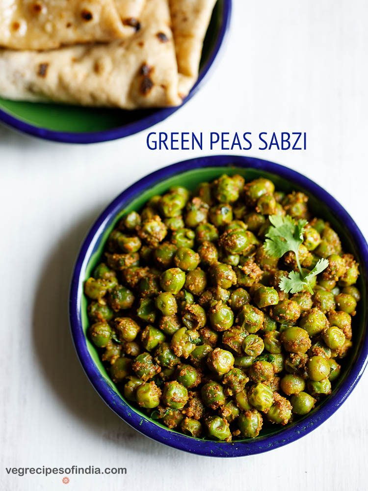 matar ki sabzi recipe, dry green peas recipe