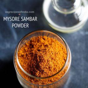 mysore sambar powder recipe