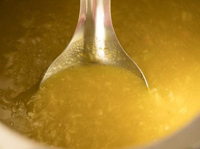 making pumpkin soup recipe