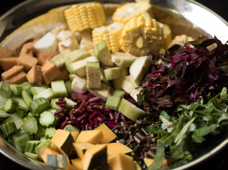 making rishi panchami sabzi recipe