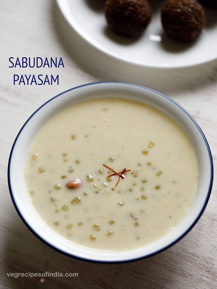 sabudana payasam recipe