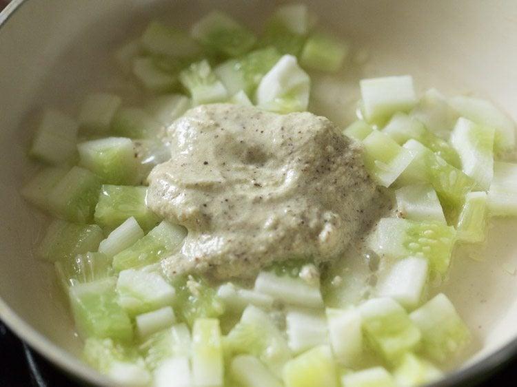 making cucumber pachadi recipe
