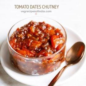 tomato khejur chutney recipe, bengali tomato chutney recipe