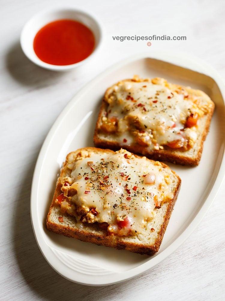 cheese paneer toast recipe