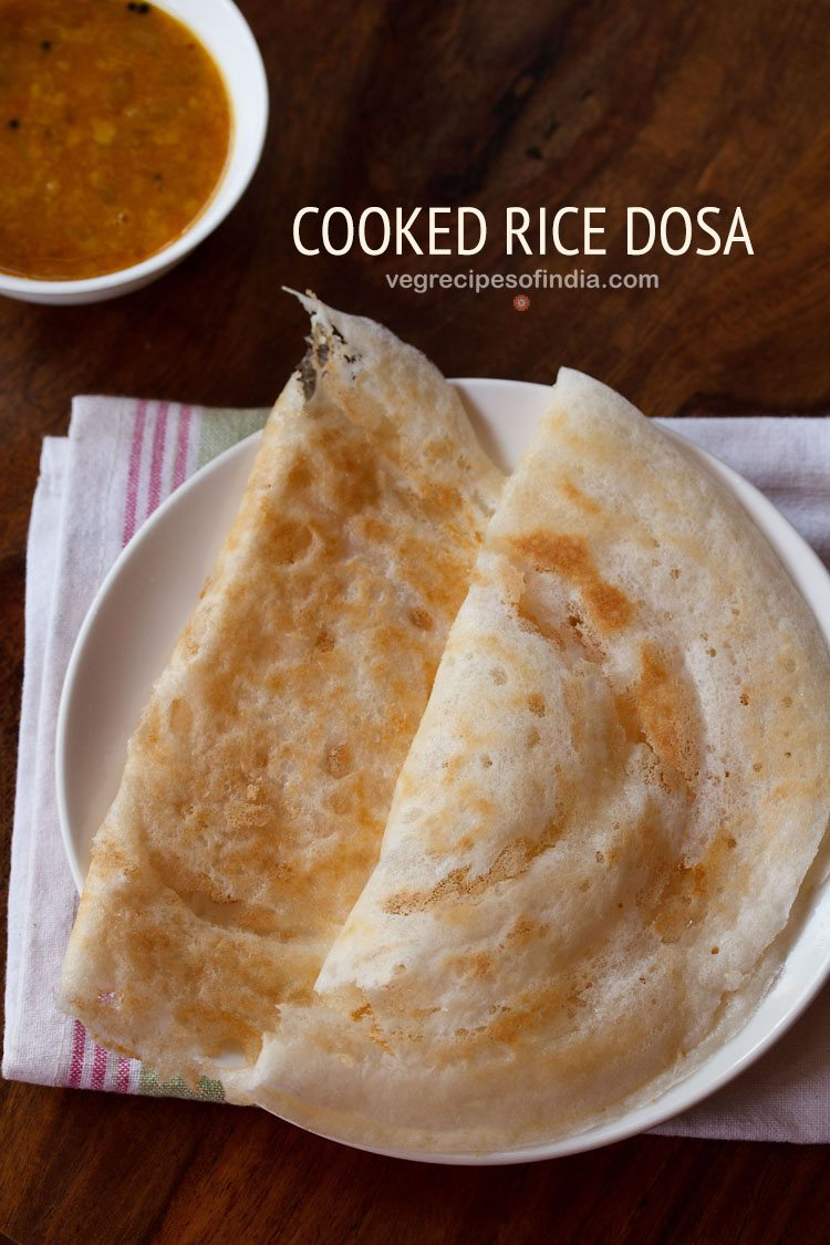 instant cooked rice dosa recipe