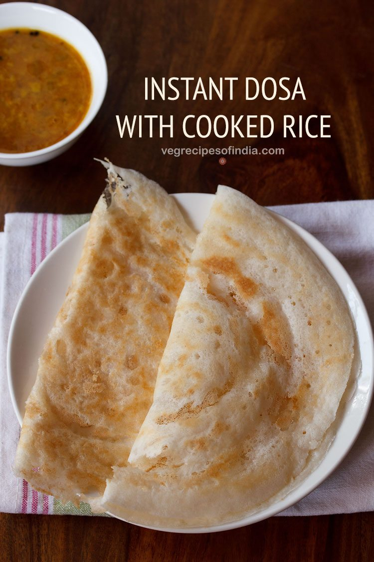 instant dosa with cooked rice
