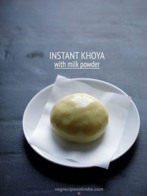 instant khoya recipe