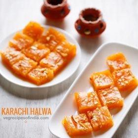 karachi halwa recipe, bombay halwa recipe, corn flour halwa recipe