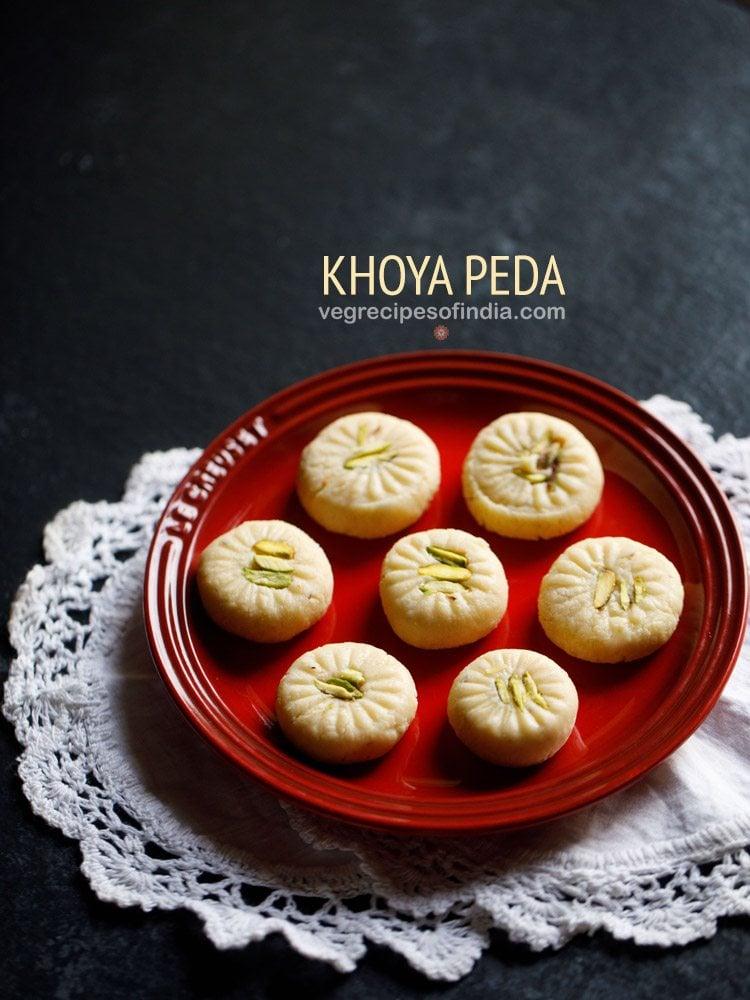 khoya peda recipe