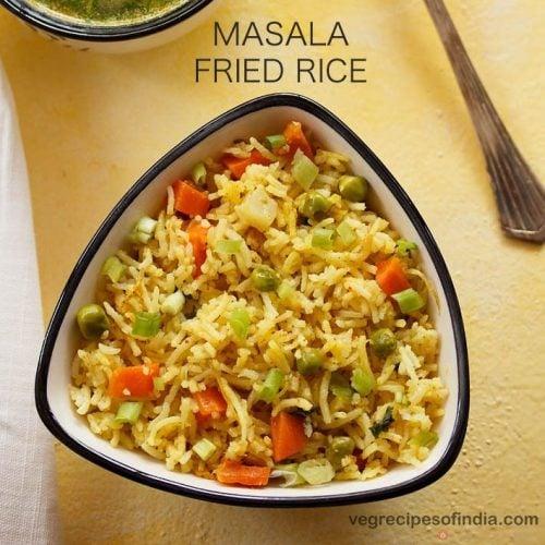 masala fried rice recipe
