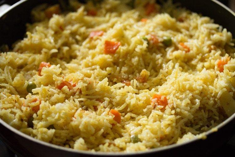 making veg masala fried rice recipe