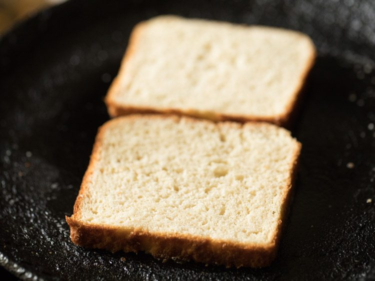 making paneer cheese toast sandwich recipe