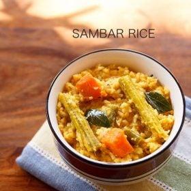 sambar rice recipe, sambar sadam