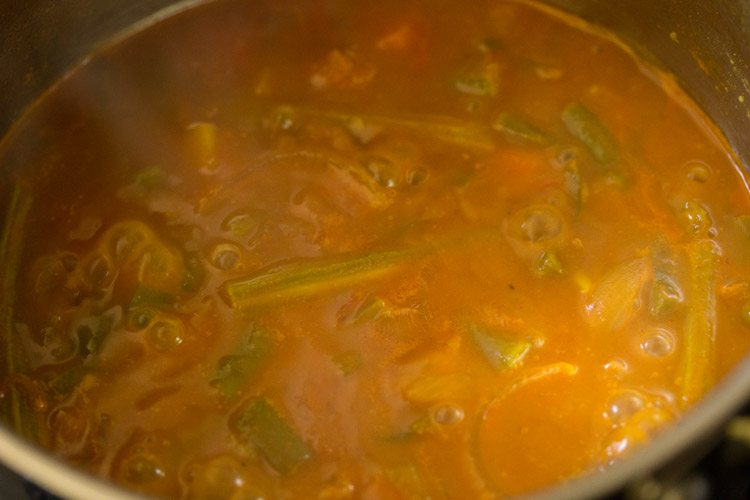 making sambar rice recipe