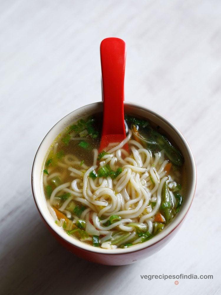 clear veg noodle soup recipe