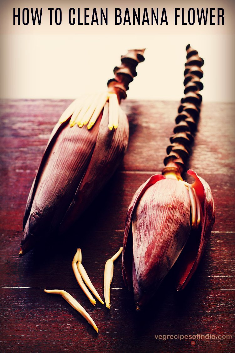 how to clean banana flower