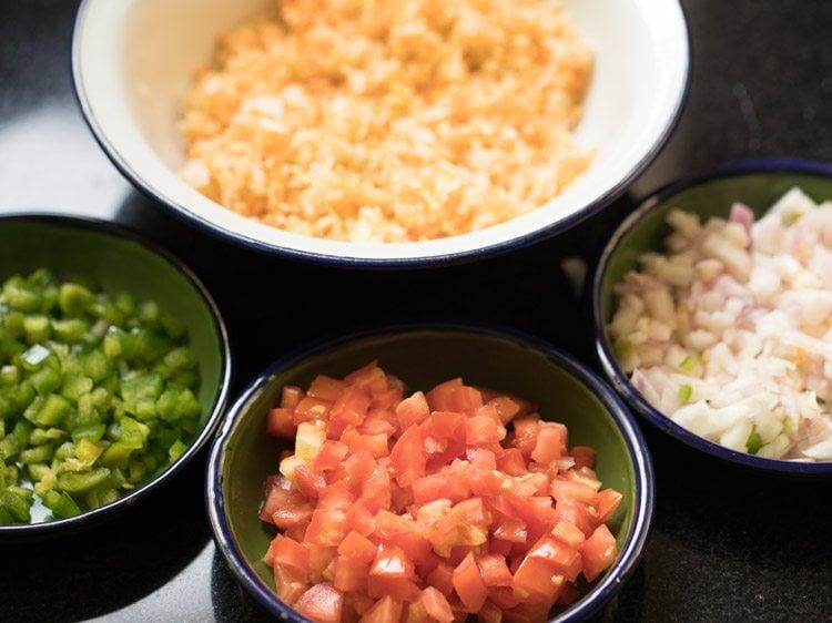 veggies to make mumbai jini dosa recipe