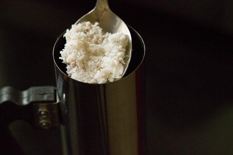 making Kerala puttu recipe