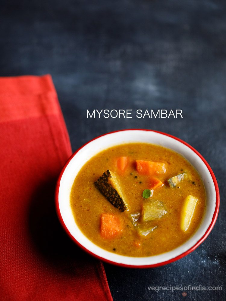 mysore sambar recipe