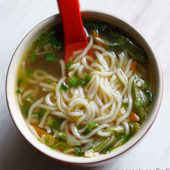 Noodle Soup With Mix Veggies Dassana S Veg Recipes
