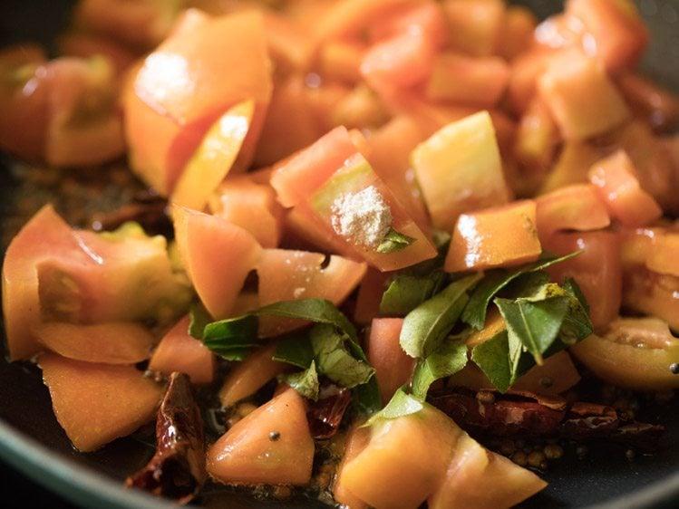 making tomato pachadi recipe