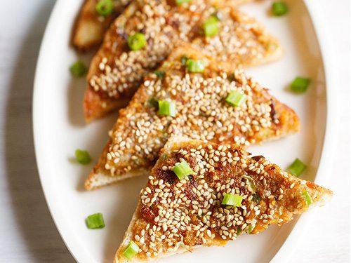 veg chinese toast recipe