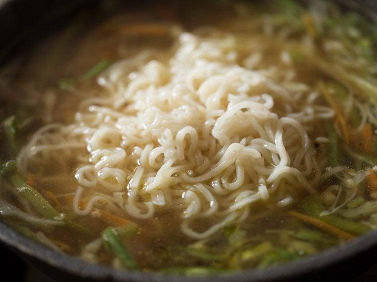 making veg noodle soup recipe