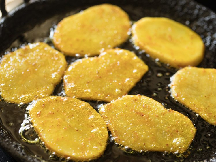 making aloo bhaja recipe