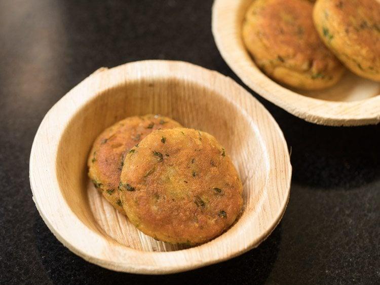 making aloo tikki chaat recipe