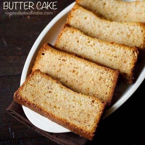 butter cake recipe, eggless butter cake recipe