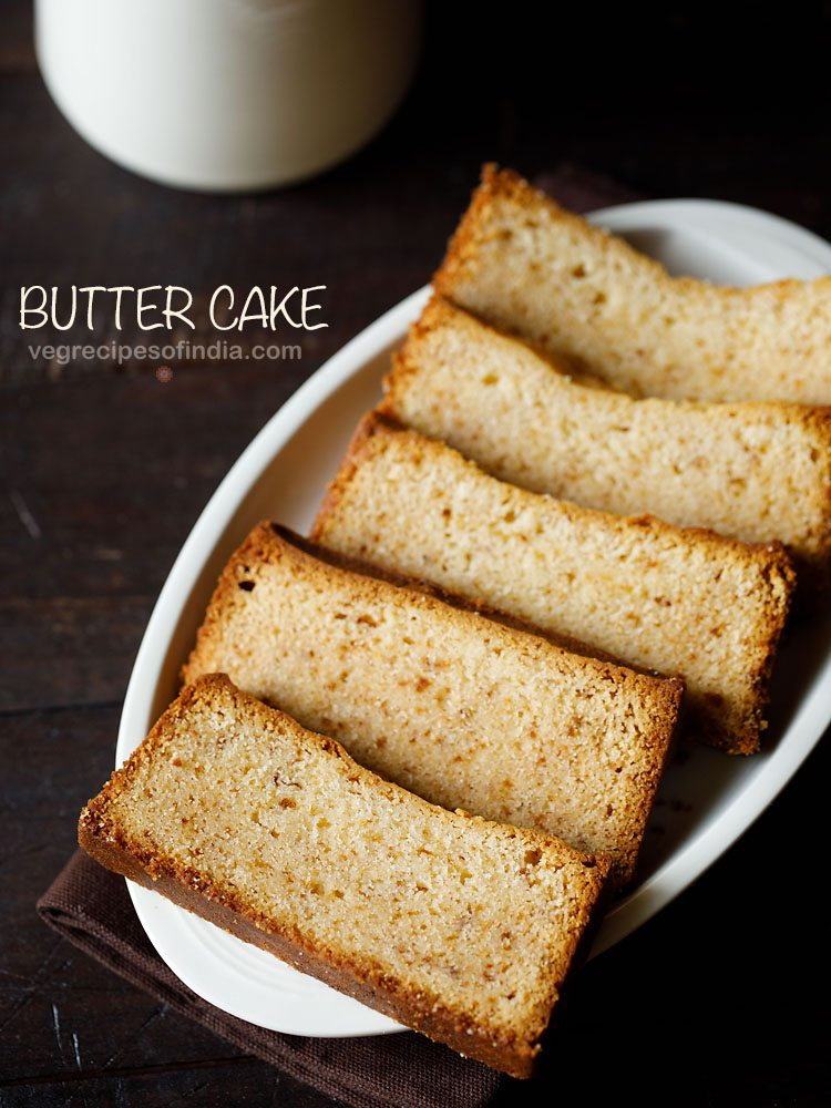 Eggless butter cake recipe how to make butter cake recipe for Cake recipe without butter