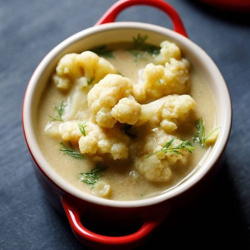 cauliflower kurma recipe, cauliflower korma recipe