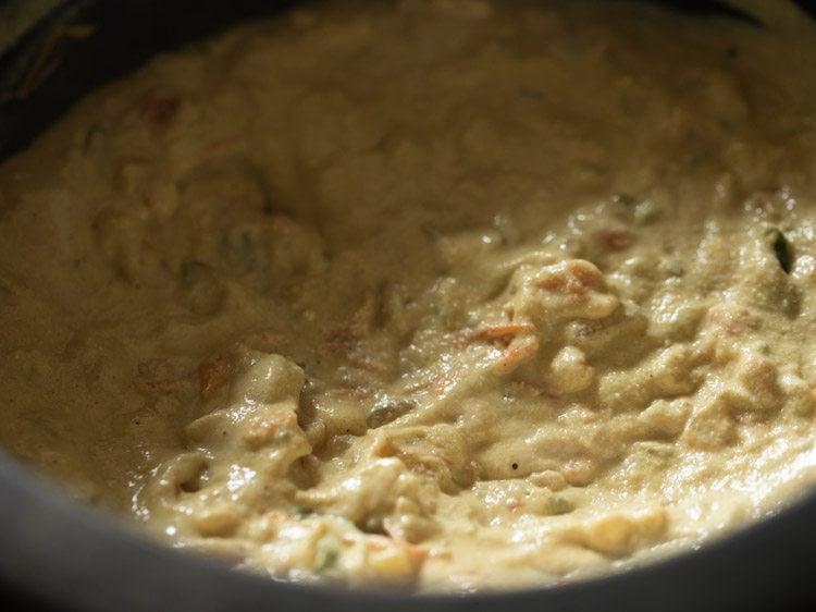 close up of masala in saucepan