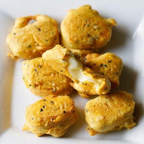 cheese pakora recipe, cheese pakoda recipe