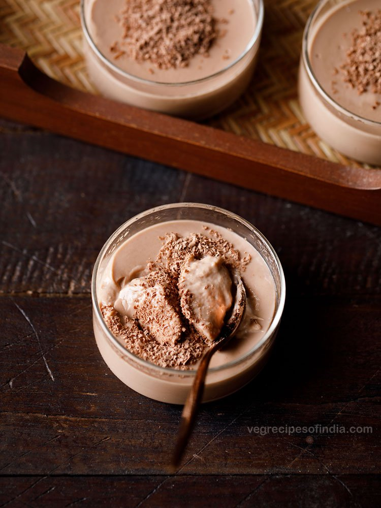 Eggless Chocolate Pudding Recipe Chocolate Pudding Made