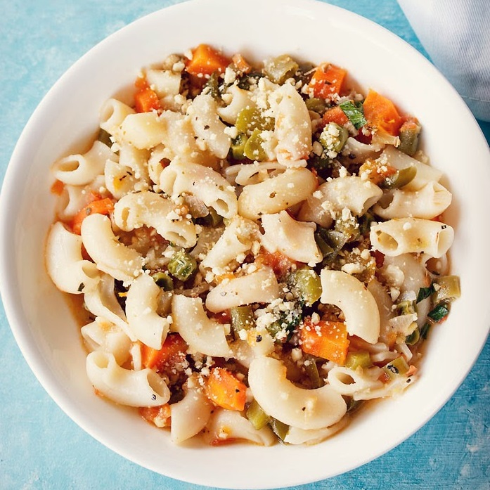 one pan pasta recipe, vegetarian one pot pasta recipe