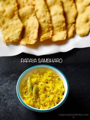 papaya sambharo recipe