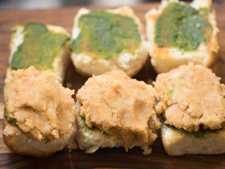 making mumbai style pav sandwich recipe
