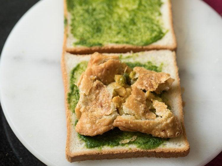 making samosa sandwich recipe
