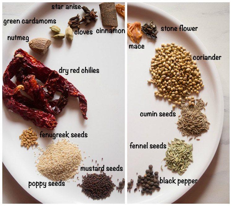 spices for veg shakuti recipe