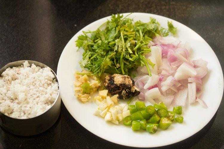 ingredients for veg shakuti recipe
