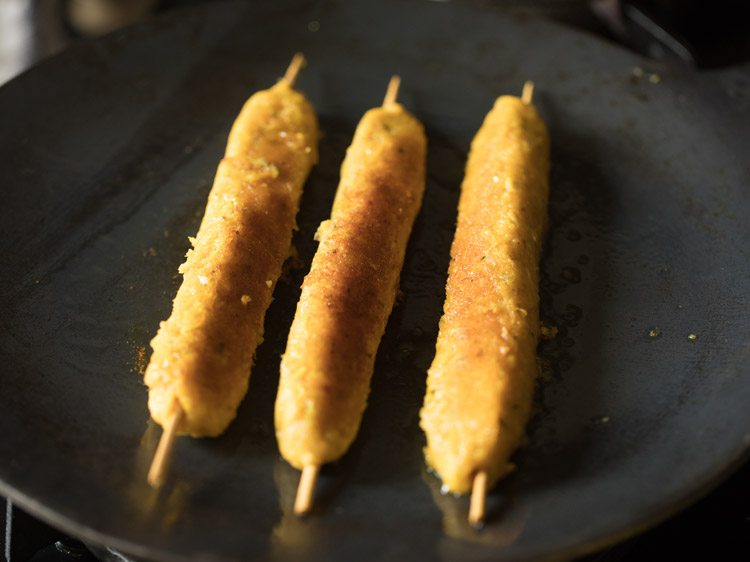making sweet corn kabab recipe